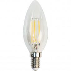 """Лампа светодиодная C35 4W E14  4LED 3000K 230V свеча """"LEMANSO"""" LM392"""