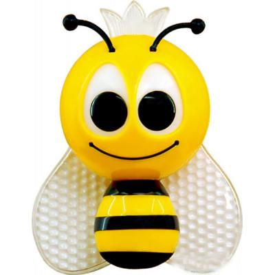 "Ночник Пчёлка 4 LED*RGB с сенсором жёлтая ""LEMANSO"" NL13"