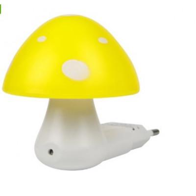 "Ночник Гриб 3 LED 6500K с сенсором жёлтый ""LEMANSO"" NL16"