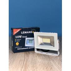 """Прожектор светодиодный LED SMD 10w 6500K IP65 680LM белый """"LEMANSO"""" LMP33-10"""