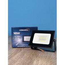 """Прожектор светодиодный LED SMD 10w 6500K IP65 560LM """"Нептун"""" чёрный """"LEMANSO"""" LMP72-10"""