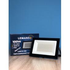 """Прожектор светодиодный LED SMD 100w 6500K IP65 5600LM """"Нептун"""" чёрный""""LEMANSO"""" LMP72-100"""