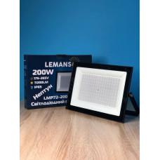 """Прожектор светодиодный LED SMD 200w 6500K IP65 11200LM """"Нептун"""" чёрный""""LEMANSO"""" LMP72-200"""