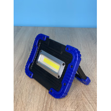 "Прожектор LED 10W COB 750LM 6500K IP64  с аккум. черно-синий ""LEMANSO"" LMP74-10"