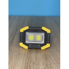 """Прожектор LED 5W 2COB 200+100LM (сбоку) 6500 IP44 жёлто-черний """"LEMANSO"""" LMP79"""