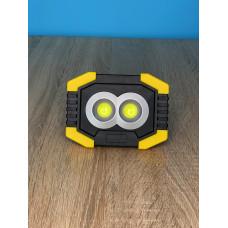 """Прожектор LED 5W 2COB 200+100LM (сбоку) 6500 IP44 жёлто-черний """"LEMANSO"""" LMP80"""