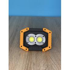 """Прожектор LED 5W 2COB 420LM 6500 IP44 жёлто-черный """"LEMANSO"""" LMP82"""