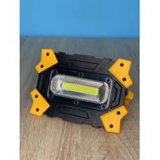 "Прожектор LED 10W COB 930LM 6500K IP44  с аккум. жёлто-черний ""LEMANSO"" LMP86"