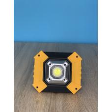 """Прожектор LED 20W COB 500LM 6500K IP65  с USB и аккум. жёлто-черный """"LEMANSO"""" LMP89"""