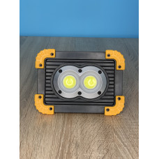 "Прожектор LED 20W OSL+COB 300+300LM 6500 IP65 USB и аккум. жёлто-черний ""LEMANSO"" LMP90"