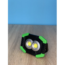 "Прожектор LED 8W COB 100+150LM 6500 IP44 c USB и аккум. зелено-черный ""LEMANSO"" LMP91"