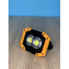 """Прожектор LED 20W COB 300LM 6500K IP64  с USB и аккум. жёлто-черный """"LEMANSO"""" LMP92"""
