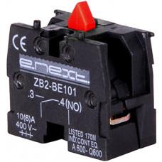 """Блок-контакт e.cb.stand.n.o, зеленый, нормально-открытый применяется только для тельферных постов e.cs.stand.xac.a. """"E.NEXT"""" s008002"""