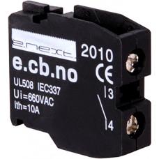 """Блок-контакт e.cb.stand.la.no, зеленый, нормально-открытый """"E.NEXT"""" s008003"""