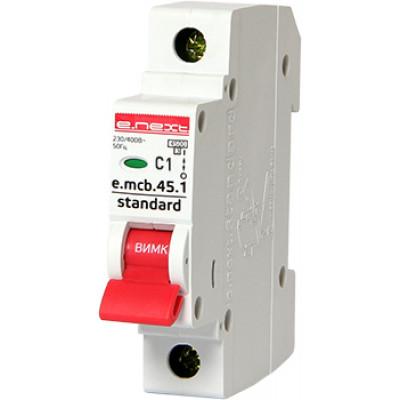 """Автоматический выключатель e.mcb.stand.45.1.C16, 1р, 16А, C, 4,5 кА """"E.NEXT"""" s002008"""