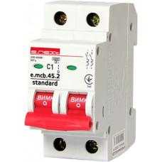 """Автоматический выключатель e.mcb.stand.45.2.C10, 2р, 10А, C, 4,5 кА """"E.NEXT"""" s002016"""