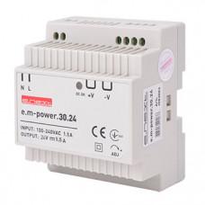 "Блок питания на DIN-рейку e.m-power.30.24 30Вт, DC24В ""E.NEXT"" i083003"