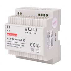 "Блок питания на DIN-рейку e.m-power.60.12 60Вт, DC12В ""E.NEXT"" i083004"