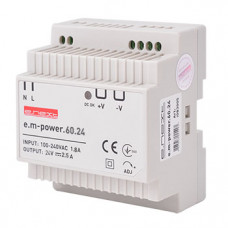 "Блок питания на DIN-рейку e.m-power.60.24 60Вт, DC24В ""E.NEXT"" i083005"