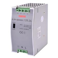 "Блок питания на DIN-рейку e.m-power.120.24 120Вт, DC24В ""E.NEXT"" i083006"