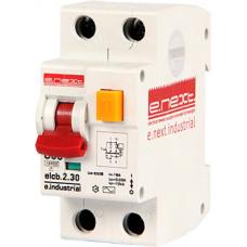 """Выключатель дифференциального тока (дифавтомат) e.industrial.elcb.2.C06.30, 2р, 6А, C, 30мА """"E.NEXT"""" i0230001"""