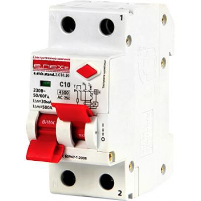 """Выключатель дифференциального тока (дифавтомат) e.elcb.stand.2.C32.30, 2р, 32А, C, 30мА с разделенной рукояткой """"E.NEXT"""" p0620008"""