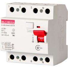 "Выключатель дифференциального тока e.rccb.stand.4.25.30 4р, 25А, 30mA ""E.NEXT"" s034003"