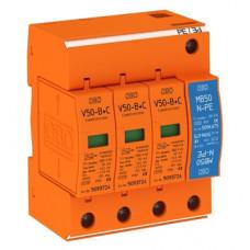 Молниеприемный разрядник и устройство защиты от перенапряжений V50-B+C 3+NPE Класс I+II. OBO Bettermann 5093654