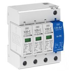 Разрядник для защиты от перенапряжений V20-C 3+NPE- 280 Класс II. OBO Bettermann 5094656