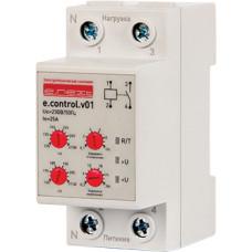 """Реле контроля напряжения однофазное e.control.v01, 25А """"E.NEXT"""" p0690006"""