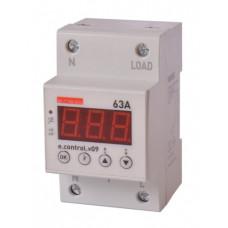"""Реле контроля напряжения однофазное 63А c индикацией e.control.v09 """"E.NEXT"""" p0690014"""