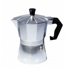 """Гейзерная кофеварка 3 порции,150мл, серебро """"CON BRIO"""" СВ6103"""
