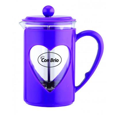 """Заварник стекло,пластик,800мл (фиолетовый) """"CON BRIO"""" СВ5680"""