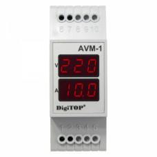 """Амперметр-вольтметр AVM-1 DIN """"DigiTOP"""""""