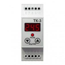"""Терморегулятор ТК-3 (одноканальный, датчик DS18B20) DIN """"DigiTOP"""""""