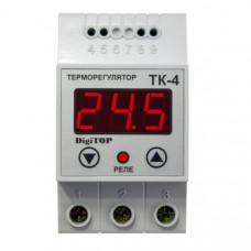 """Терморегулятор ТК-4 (одноканальный, датчик DS18B20) DIN """"DigiTOP"""""""
