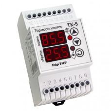 """Терморегулятор ТК-5 (двухканальный, датчик DS18B20) DIN """"DigiTOP"""""""