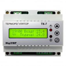 """Терморегулятор ТК-7 (трехканальный с недельным программатором, датчик DS18B20) DIN """"DigiTOP"""""""