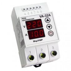 """Реле напряжения с контролем тока VA-32A DIN """"DigiTOP"""""""