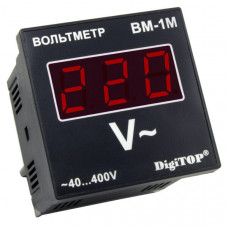 """Вольтметр действующего значения переменного тока Вм-1м однофазный щитовой NEW """"DigiTOP"""""""