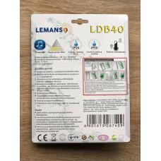 """Звонок беспроводной на батарейках 12V """"LEMANSO"""" белый с оранжевым LDB40"""