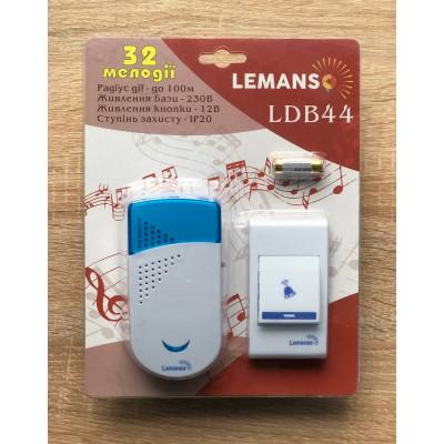 """Звонок беспроводной в розетку 230V """"LEMANSO"""" белый с синим LDB44"""