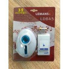"""Звонок беспроводной в розетку 230V """"LEMANSO"""" белый с синим LDB45"""