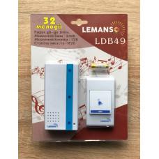 """Звонок беспроводной в розетку 230V """"LEMANSO"""" белый с синим LDB49"""
