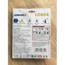 """Звонок беспроводной на батарейках 12V вишня """"LEMANSO"""" LDB54"""