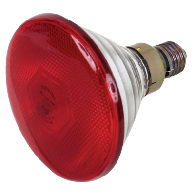 "Лампа инфракрасная 175W Е27 230V на половину красная ""LEMANSO"" LM3010"