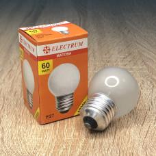 Лампа ELECTRUM шар 60W E27 матовая A-IB-0035