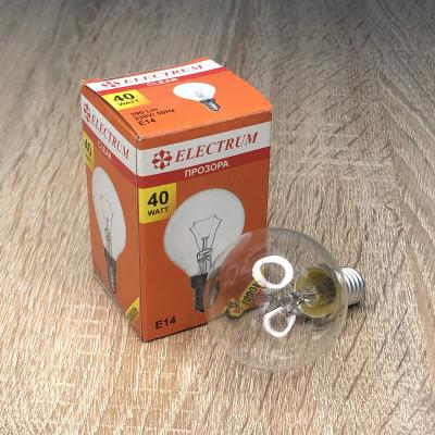 Лампа ELECTRUM шар 40W E14 прозрачная A-IB-0036