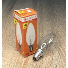 Лампа ELECTRUM свеча 40W E14 прозрачная A-IC-0013