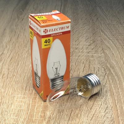 Лампа ELECTRUM свеча 40W E27 прозрачная A-IC-0018